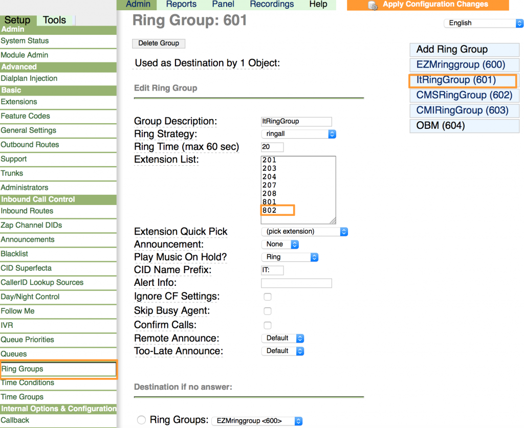 Add extionsion to ring groups